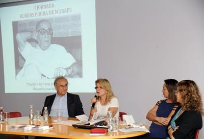 Foto: Cecília Bastos / Jornal da USPPlinio Martins Filho, Maria Arminda do Nascimento Arruda, Marisa Midori e Iris Kantor