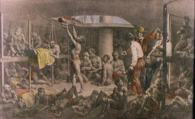 Foto: Wikimedia Commons O tráfico de seres humanos através do Atlântico Sul foi significativo até o século XIX