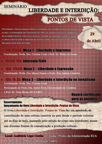 Cartaz do evento OBCOM | clique para ampliar